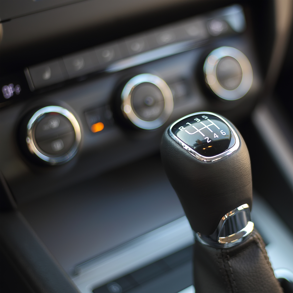 manual transmission stick in car